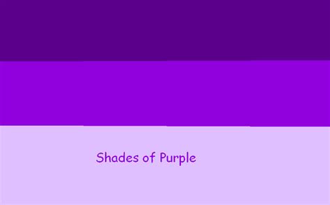 shades of purple chart shades of purple