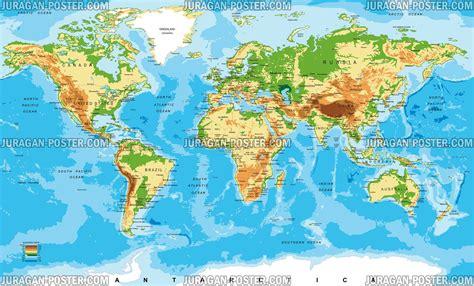 world map peta dunia juragan poster jual poster