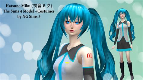sims 4 mods manga hatsune miku ts4 model clothes by ng9 on deviantart