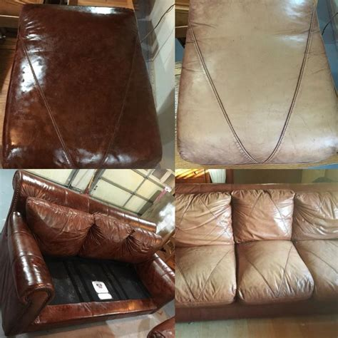 leather rehabilitation with dye conditioner