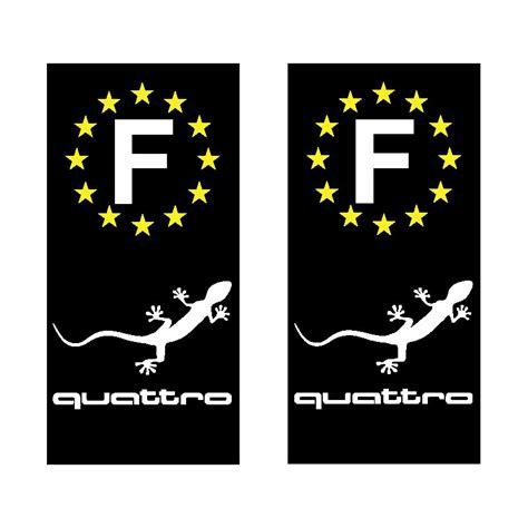 Audi Quattro Gecko Sticker by Stickers Autocollant Plaque D Immatriculation Audi Quattro