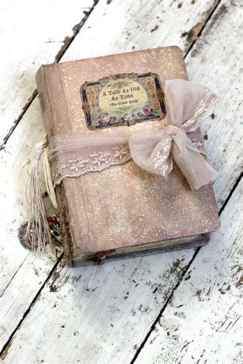 fairytale wedding guest book blush pink photo album shabby chic photo booth album or journal