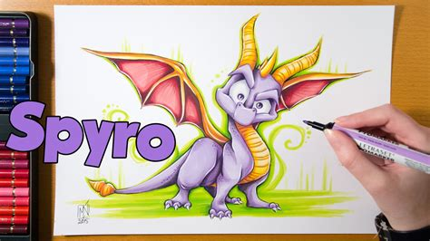 speed drawing spyro the dragon youtube