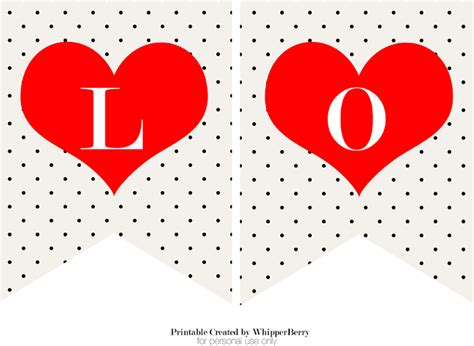 printable i love you banner trendy black white valentines day printables free
