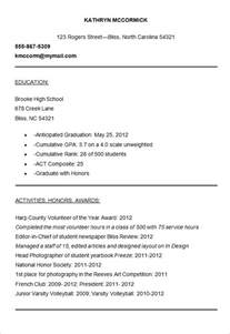 Resume Template For College Application by 10 College Resume Templates Free Sles Exles