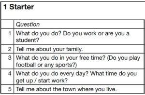 preguntas personales traduccion preguntas examen oral de ingles nivel starter cursos de