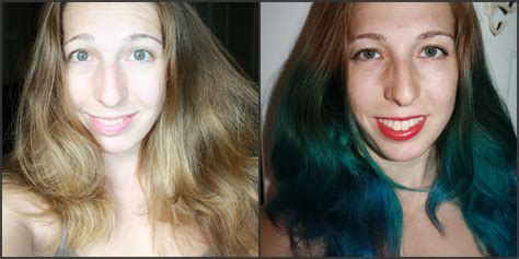 dyeing hair for the time how to dye hair blue ombre