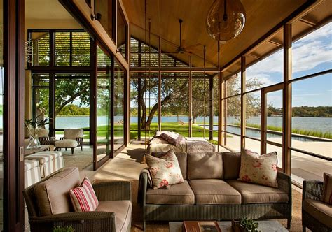 Sliding Glass Walls by 50 Contemporary Sunrooms With Charming Spaces