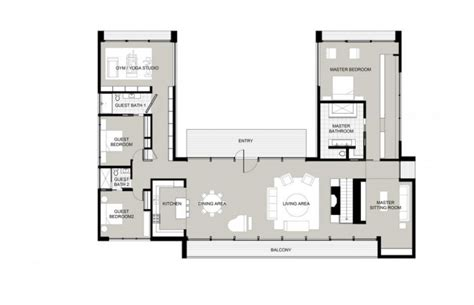 u shaped floor plans u shaped houses on courtyard house plans