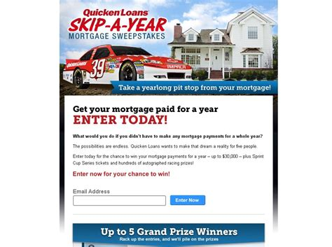 Mortgage Sweepstakes - quicken loans skip a year mortgage sweepstakes
