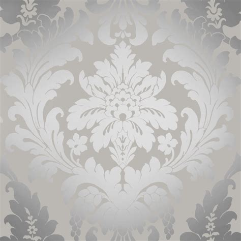I love wallpaper shimmer metallic grande damask wallpaper soft grey silver ilw261539 i