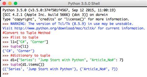 python tutorial tuple jump start with python part 7 tuples