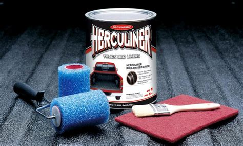brush on bed liner herculiner truck bed liner kit groupon goods