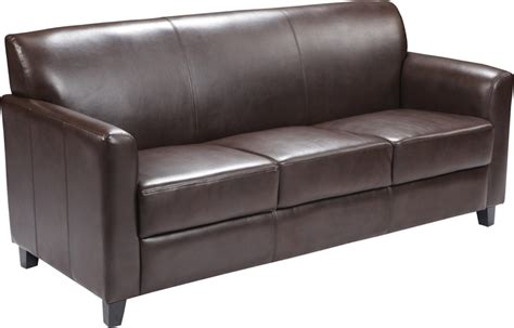 Extra Soft Brown Leather Commercial Sofa Ships In 1 2