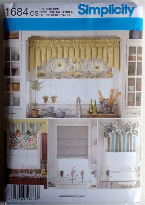 Simplicity sewing pattern 1684 window treatments valance roman shade valances ebay