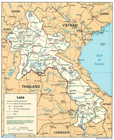 map of laos laos maps perry casta 241 eda map collection ut library