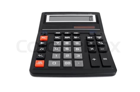 isolated big black office calculator stock photo colourbox