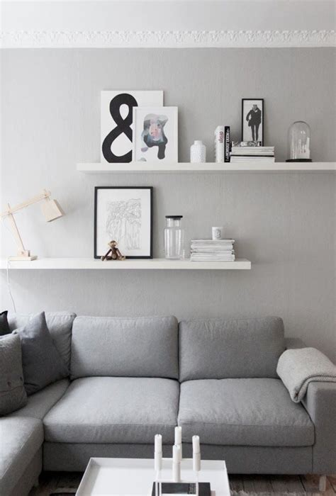 floating shelves living room ideas living room details grey walls from createcph living room living rooms gray