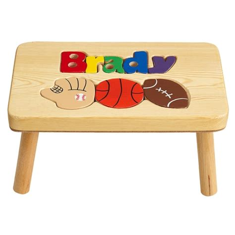 Personalized Stools by Personalized Puzzle Step Stool