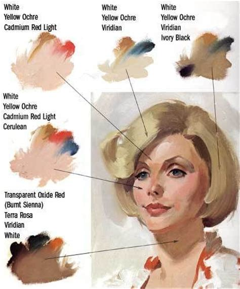 17 best images about flesh tones on acrylics painting portraits and portrait