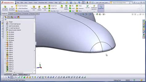 solidworks tutorial bike dsid136 solidworks tutorial bicycle seat with surface