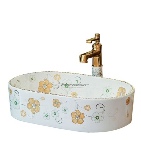 floral bathroom sinks modern cute floral enamelled white large bathroom sink