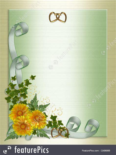templates wedding invitation yellow flowers stock