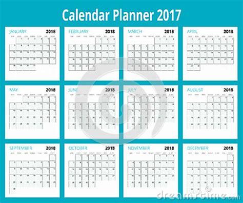 2018 Calendar Print Template Week Starts Sunday Portrait Orientation Set Of 12 Months Orientation Calendar Template