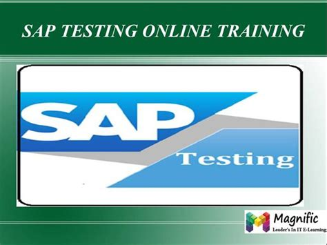 Sap Testing Tutorial Pdf | sap testing online training in usa authorstream