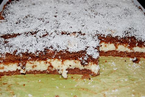 kuchen mit schokolade und kokos schoko grie 223 sahne kokos kuchen brisane