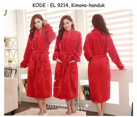 Handuk Kimono Handuk Tebal Tebel Import Pink Polos Menyerap Air Dewasa 9214 170rb jual kimono handuk mandi merah bathrobe korean asian bathrobe search