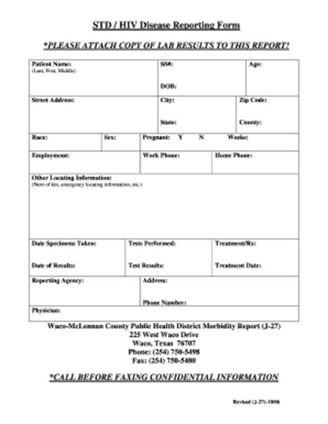 Hiv Results Form Fill Online Printable Fillable Blank Pdffiller Std Test Results Template