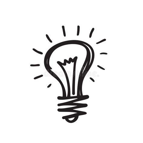 design icon in sketch light bulb vector icon illustration in sketch draw