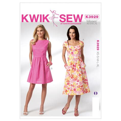 dress pattern kwik sew kwik sew ladies sewing pattern 3929 vintage style dresses