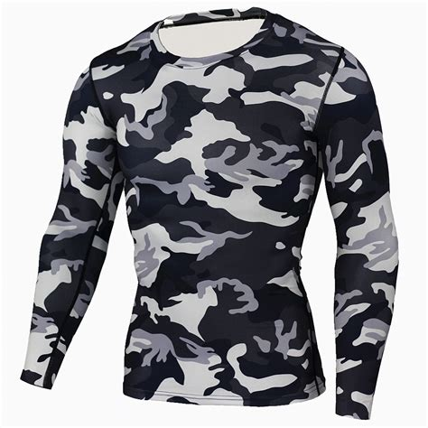 Camouflage Sleeve T Shirt new camouflage t shirt bodybuilding tights
