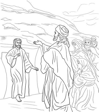 coloring pages jesus raises lazarus the rich and lazarus coloring pages coloring pages