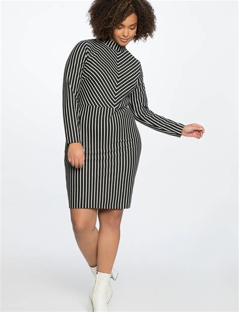 Turtleneck Stripe turtleneck opposing stripes dress s plus size
