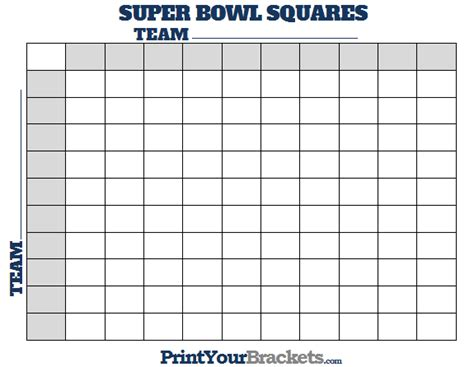 printable bowl block pool template printable bowl squares 100 square grid office pool