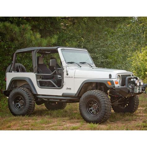 jeep jku tube doors rugged ridge 11509 20 black textured tube door for jeep