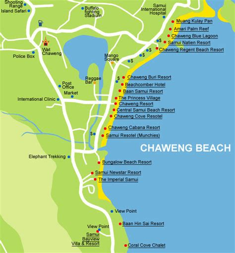 chaweng regent resort hotel map koh samui maps and tourist guide thailand travel hound