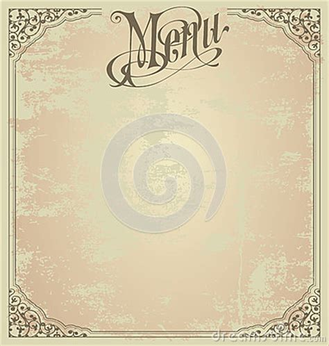 Menu Design Template Royalty Free Stock Images Image 29226069 Blank Menu Template Free