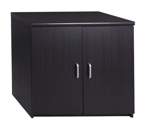 Black Storage Cabinet With Doors by Marino 2 Door Ash Black Wood Grain Quality Cupboard