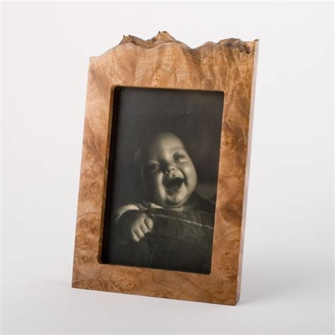 wooden picture frame  vertical evergreen wood