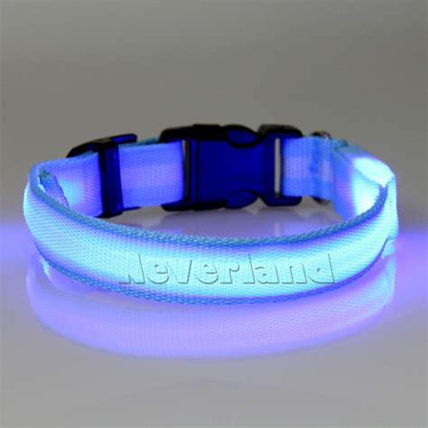 light up collar led light up pet safety collar bright adjustable collar ebay