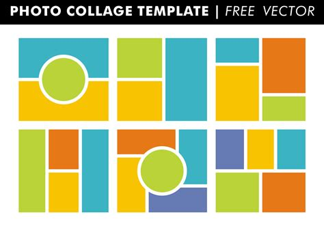 Photo Collage Templates Free Vector Download Free Vector Art Stock Graphics Images Collage Template