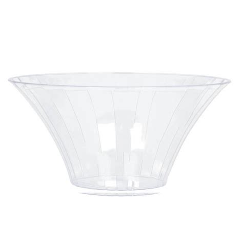 Plastic Vases For Buffet by Clear Large Plastic Flared Bowl 23 3cm Dia 12 Pkg Amscan International