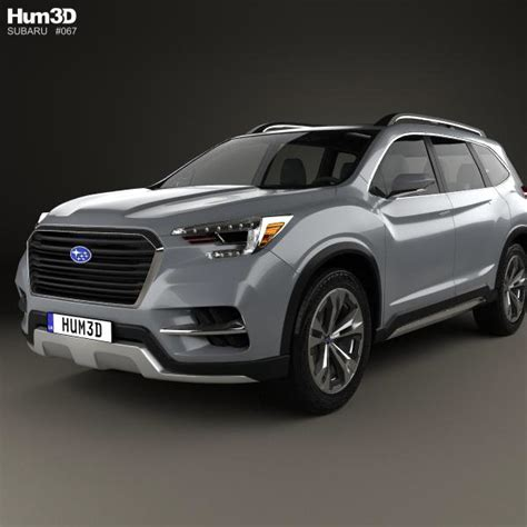 suv subaru 2017 subaru ascent suv 2017 3d model hum3d