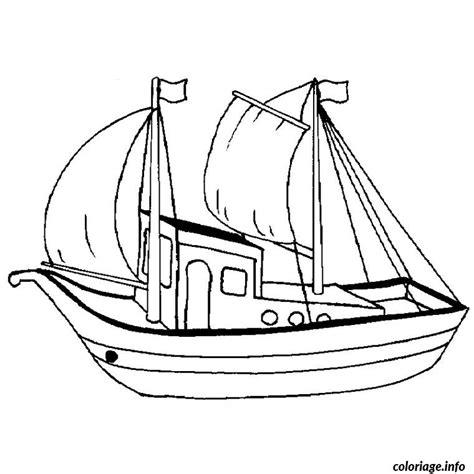 dessin en ligne bateau coloriage bateau peche dessin