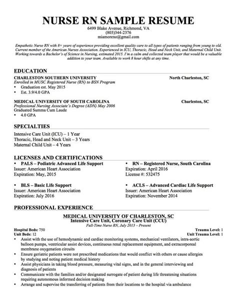 New Grad Nursing Resume Template by Nursing Resumes For New Grads Hvac Cover Letter Sle