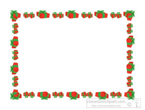 Clipart Border Of Gifts And by Borders Clipart Chirstmas Gifts Border Clipart